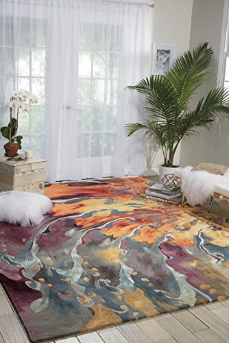 Nourison Prismatic Modern Contemporary Multicolor Area Rug 3 9 x 5 9