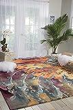 Nourison Prismatic PRS08 Modern/Contemporary Multicolor Area Rug  5'6″ x 7'5″ For Sale