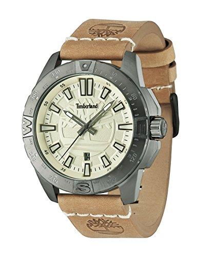 Timberland 14532JSU-07 Mens Litchfield Light Brown Leather Strap Watch