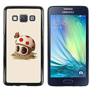 Shell-Star Arte & diseño plástico duro Fundas Cover Cubre Hard Case Cover para Samsung Galaxy A3 / SM-A300 ( Mushroom Skull Cute Butterfly Death )