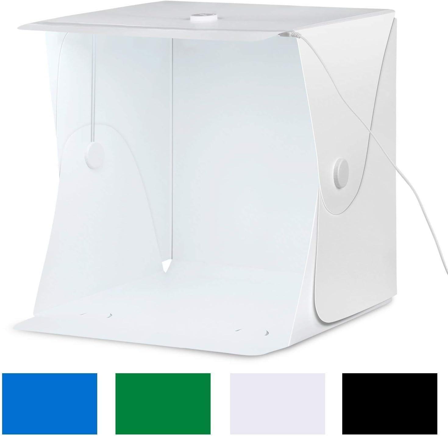 Amzdeal - Caja de luz para estudio de fotografía, 40 x 40 x 40 cm ...