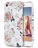 iPhone 7 Case, Imikoko™ Protective Retro Vintage Floral Print Flower Pattern Hard High Impact Slim Protective Case For iPhone 7 (Pattern A) (Pattern A)