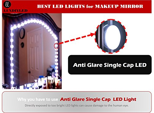 lux vanity mirror lights makeup mirror lights anti glare luxurious led lights for vanity mirror. Black Bedroom Furniture Sets. Home Design Ideas