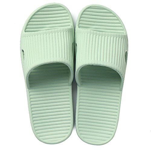DogHaccd Zapatillas,Zapatillas de casa hogar hembra con espesor de verano verano pareja lindo baño resbaladizo Zapatillas casa enfriar zapatillas Luz verde 2