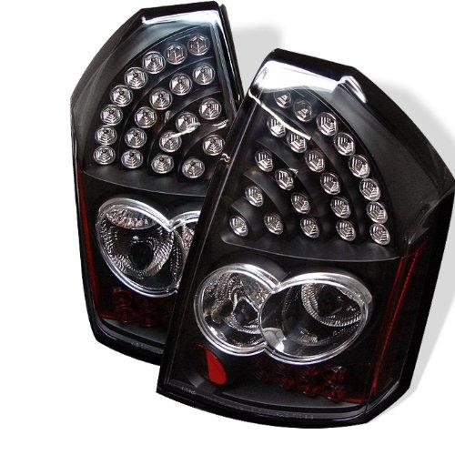 Chrysler 300 05-07 LED Tail Lights - Black (Chrysler 300 Spyder Tail Lights)