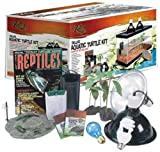 Zilla 28000 20-Gallon Deluxe Aquatic Turtle Kit, 14-1/2-Inch by 32-Inch by 14-3/4-Inch
