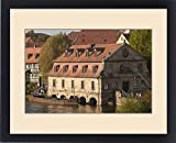 Framed Print of Little Venice (Klein Venedig), old mill and River Regnitz in Bamberg, Germany