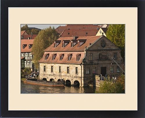 Framed Print of Little Venice (Klein Venedig), old mill and River Regnitz in Bamberg, Germany by Fine Art Storehouse