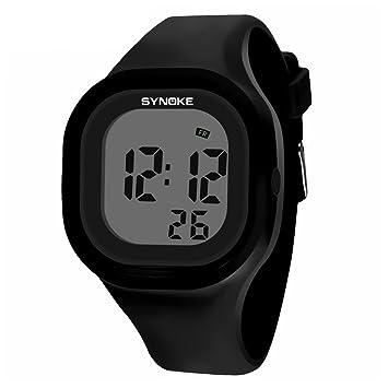 Tookie - Reloj de pulsera digital deportivo de silicona con temporizador LED y alarma, impermeable, luminoso, negro: Amazon.es: Deportes y aire libre