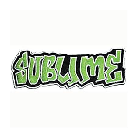 Sublime Music Band Patch Green Graffiti Name Logo: Amazon co uk