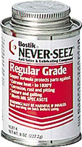 Never-Seez NSBT-8 Silver Gray Regular Grade Anti-Seize Compound, 8 fl. oz. Brush Top Can 535-NSBT-8