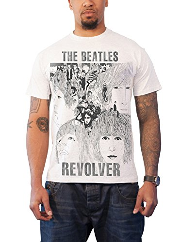 The Beatles T Shirt Revolver Band Logo Official Mens Slim Fit Sub - Revolver Mens Tee