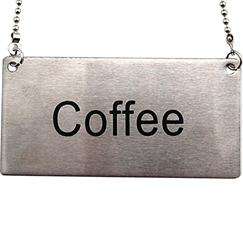 Stainless Steel Hanging Chain Coffee Sign (Coffee Label)