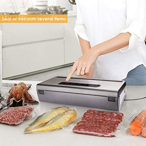 PARTU Vacuum Sealer Machine For Keeping Fresh On Summer Dry/Moist Mode || Include Vacuum Bag (11'' x 118'')Applicable to External Suction Pipe/Fresh-keeping Tank And Clothes Storage Bag by PARTU (Image #4)