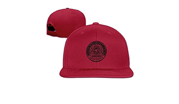 276f25e101f Flat-along Adjustable Illuminati Secret Society Eyes Pyramid Caps Winter  Hats at Amazon Men s Clothing store