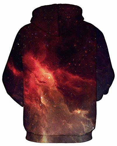 Sweat 5 Shirts Hoodies Longue Noël Fantaisiste Jacke Imprimé Galaxy Unisex Manches Décontracté Éclair Hauts Tdolah flammes Pull over Homme wqxfRA