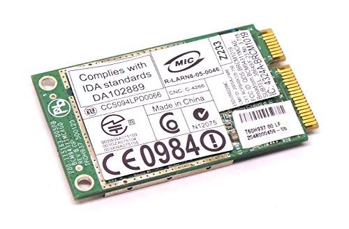 D630 Dell (Genuine OEM Dell Inspiron 1318 1410 640m E1405 9400 Latitude D430 D531 D630 E6400 2100 D630C 2100 Precision M2300 M4300 M4400 M6300 XPS M1730 M2010 M1530 Laptop Notebook Mini Wireless WLAN PCI-E Card Dell Part Numbers: 0DW149, DW149, 0JC977, JC977)