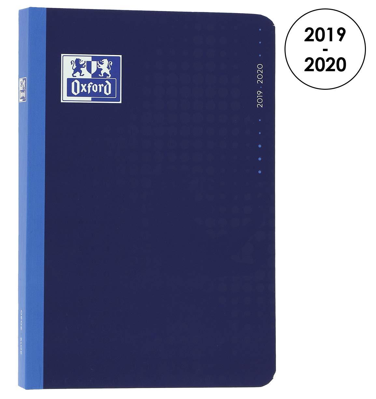 OXFORD 100738301 Magic Agenda Scolaire journalier 2019-2020 1 Jour par Page 352 pages 12x18 Anthracite