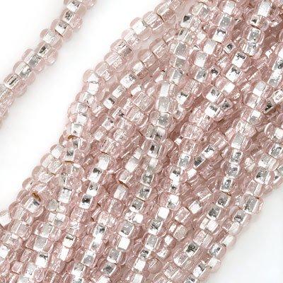 Jablonex Czech Seed Beads 8/0 Silver Foil Lined Light Rose Pink (1 Ounce)