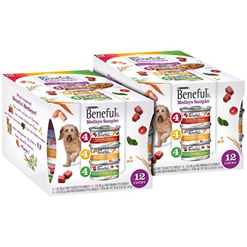 Purina Beneful Medleys Variety Pack Wet Dog Food, (24) 3 oz. Cans