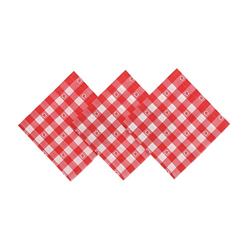Red Gingham Beverage Napkins, Package of ()