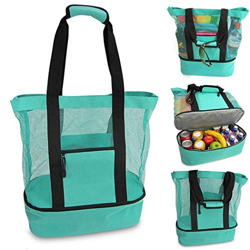 DAZZILYN Multi-function Picnic Beach Camping Insulation Bag Ice Bag lunch bag with zipper (green.)