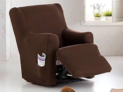 Lanovenanube Eysa - Funda sillón Tendre Relax XL Pies Juntos Color Caldera C09