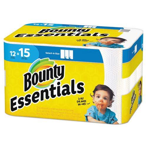 Bounty 2層Essentials紙タオル、select-a-size、11 x 5 7 /8インチ、ホワイト、78シートロール、カートンあたり12のRolls B07CYXQGWN