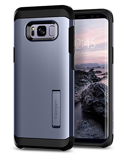 Spigen Tough Armor Galaxy S8 Case with Kickstand and Extreme Heavy Duty Protection and Air Cushion Technology for Galaxy S8 - Orchid (Orchid Case)