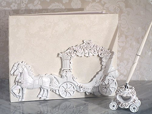 Enchanted White Wedding Coach 3 pc fairy tale wedding accessory set From FavorOnline