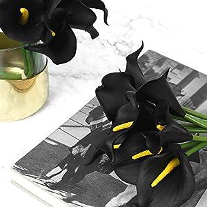 Veryhome 20pcs Lifelike Artificial Calla Lily Flowers for DIY Bridal Wedding Bouquet Centerpieces Home Decor 5