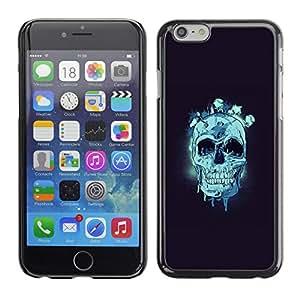 EJOY---Cubierta de la caja de protección la piel dura para el ** iPhone 6 ** --Cráneo azul