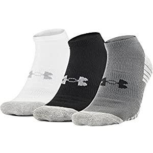 Under Armour Men's Heatgear Tech No Show Socks, Medium - Graphite Assortment (Pack of 3)