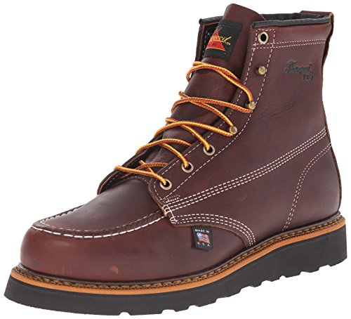 """Thorogood Men's 6"""" Moc Toe - Non-Safety Toe boots- 9 EE"""