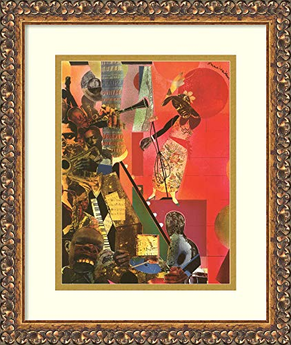 Framed Wall Art Print The Blues, 1974 by Romare Bearden 14.00 x 16.62