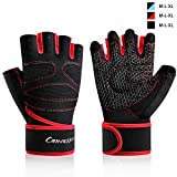 Weight Lifting Gloves, Anti-Callus Exercise Gloves Panda Foam Pad Full Palm, Durable Weight Gloves...