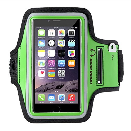 - Gear Beast Sports Armband Case for Apple iPhone 8 7 6 6s 5 SE Samsung Galaxy S7 S6 S6 Edge. Cell Phone Holder for Running Jogging Workout Fitness and Exercise. Waterproof Band with Key Pocket
