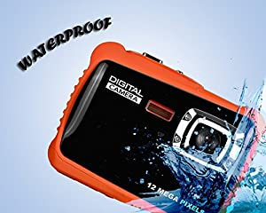 "SENSORIE Waterproof Digital Camera for Kids | 12 MP HD Underwater Action Camcorder | 8X Digital Zoom | 2"" LCD Display 