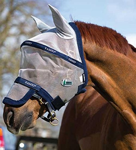 Rambo Plus Fly Mask Horse Silver/Purple by Rambo (Image #3)