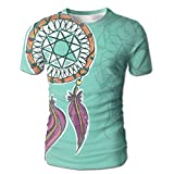XIA WUEY Pretty Dreamcatcher AdultNovelty Baseball Tshirt Graphic Tees Tops For Outdoor
