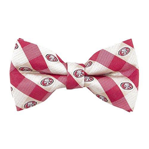 San Francisco 49'ers Checked Logo Bow Tie - NFL Football Team Logo