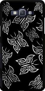 Funda para Samsung Galaxy Grand Prime (SM-G530) - Mariposas Negras Y De Plata by Nina Baydur