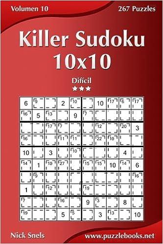 Ebooks Killer Sudoku 10x10 - Difícil - Volumen 10 - 267 Puzzles: Volume 10 Descargar Epub
