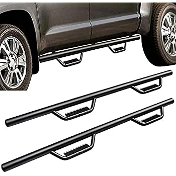 WFLNHB Side Step Running Board Nerf Bar Hoop Fit for 2007-2018 Chevy Silverado Double Cab 3 Inch