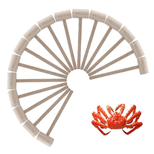 16Pcs Wooden Crab or Lobster Mallets, Nature -
