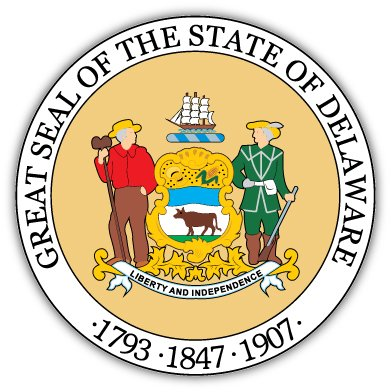Delaware state seal sticker decal 4