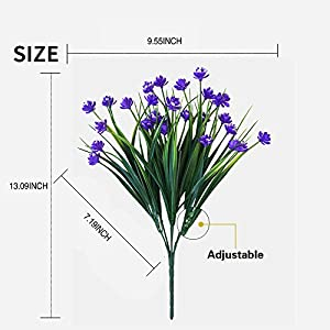 8Pcs Artificial Fake Daffodils for Indoor Outdoor Home Garden Décor 2