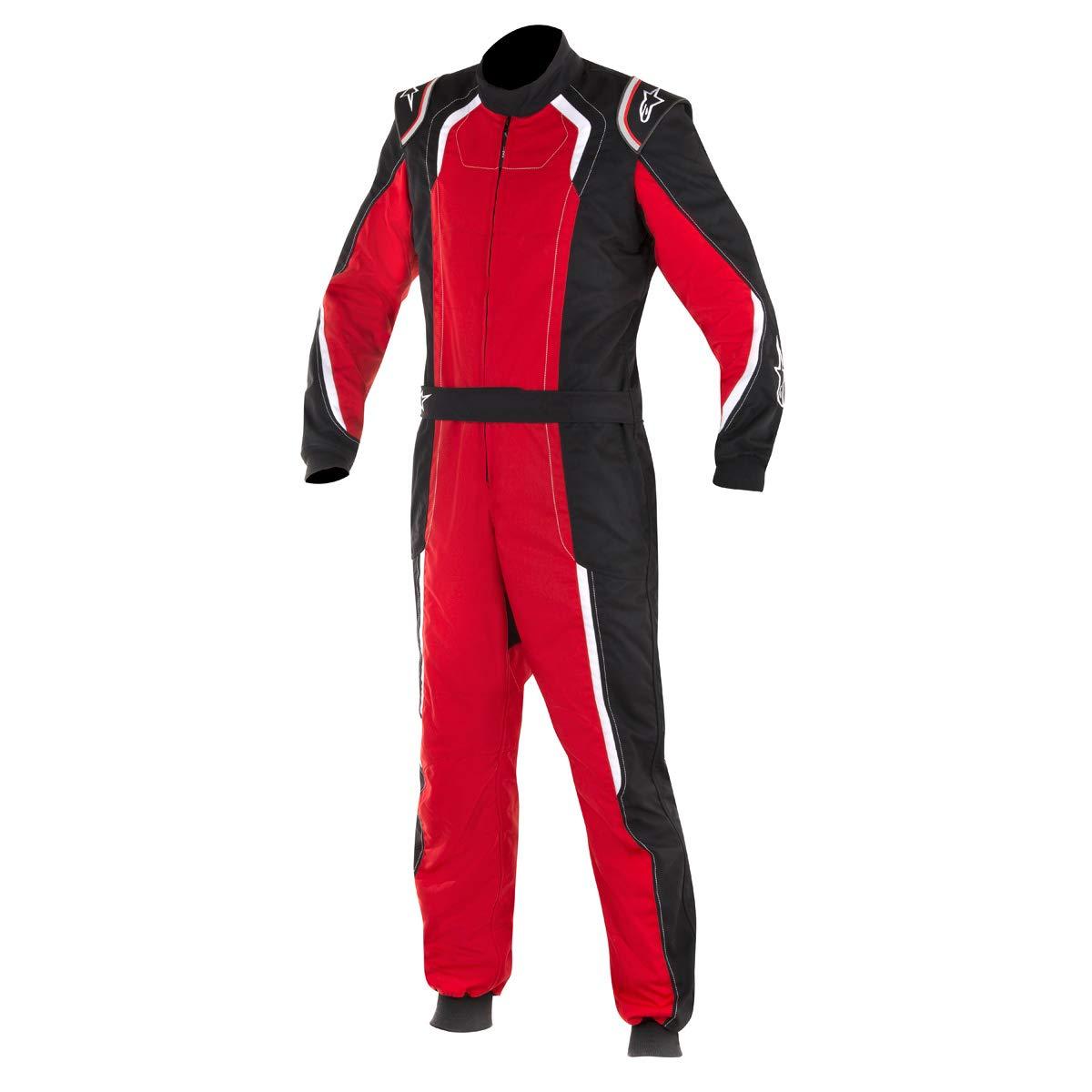 Alpinestars 3353017-132-50 K-MX 5 Suit, Black/Red/White, Size 50, CIK FIA Level 2, 2-Layer