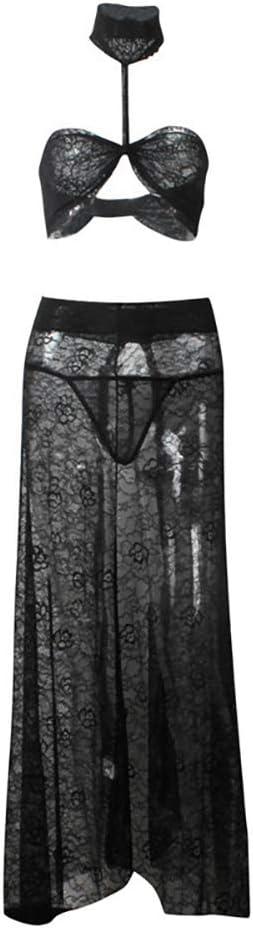 WANG Conjunto de Falda de Vestido de Gasa Maxi con Abertura de ...