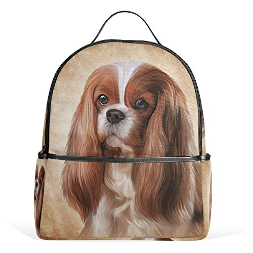 My Daily Cavalier King Charles Spaniel Dog Backpack School Bookbag Casual Daypack